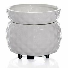 White Golf Ball Look Ceramic Electric 2 in 1 Candle Tart Warmer