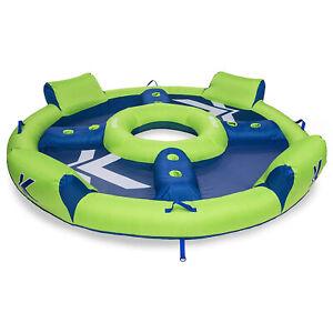 SwimWays Kelsyus Big Inflatable Nauti Elite Tube Pool Floating Raft (Open Box)