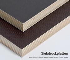 Siebdruckplatte 15mm Zuschnitt Multiplex Birke Holz Bodenplatte 100x80 cm