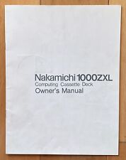 Nakamichi 1000ZXL Cassette OWNERS MANUAL - Original 28 Pages