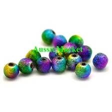 100 x stardust beads acrylic round ladies girls necklace bracelet jewellery 5mm