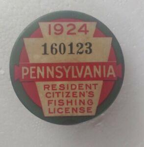 1924 Pennsylvania Fishing License