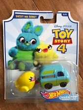 HOT WHEELS CHARACTER CARS DISNEY TOY STORY 4 DUCKY AND BUNNY