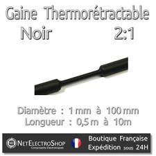 Gaine Thermorétractable - Noir - 2:1 - Diamétre au choix : 1 mm à 100 mm