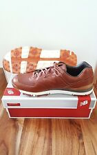 RARE NEW BALANCE NBG574LX MENS LEATHER WATERPROOF SHOE BROWN 14 d medium pigskin