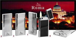 ACCENDINO LIGHTER Feuerzeug LUBINSKI WD575 ROMA CLASSICO UNISEX METALLO LACCATO