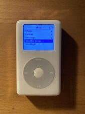 White Apple IPOD 4th Generation 40GB Model #A1059 with cable bundle