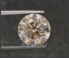 Natürlicher Diamant Brillant Schliff 1,01ct, Zertifikat, zart Champagner / Si1-2
