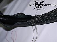 Para 05+ Mazda MX5 III Perforado Volante de Cuero Cubierta Gris Doble Pegatina