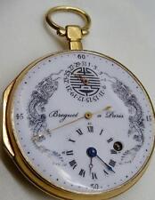 MUSEUM Qing Dynasty Chinese 18k gild&enamel Breguet Verge Fusee Calendar  watch.