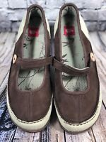 The North Face Suede Mary Jane Flat Comfort Casual Shoe Women Sz 10