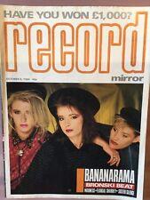 Record Mirror October 6th 1984 Bananarama U2 Madness Motorhead Womack Bronski