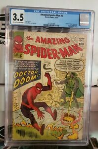 💥👀The Amazing Spider-Man #5 3.5 CGC - Must Own Silver Key 👀💥