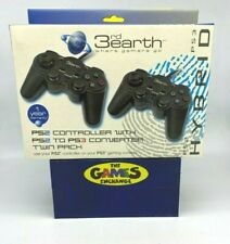 3RD EARTH PS2 TO PS3 CONVERTIBLE CONTROLLER Playstation Twin Pack Brand New