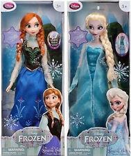 "Disney Store Frozen ELSA & ANNA SINGING & LIGHT UP 16"" Doll Set"