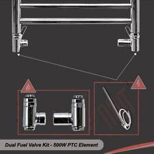 500W (PTC) Heating Element & Dual Fuel Valve Kit - for Towel Rails & Radiators