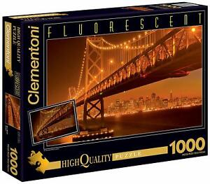 Clementoni High Quality Collection Puzzle San Francisco 1000Teile Fluorescent