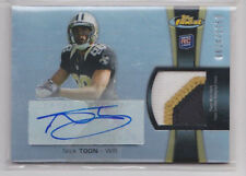 2012 Topps Finest Rookie Autographed Patch #RAP-NT Nick Toon #/1353