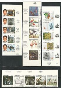 Venezuela: 1987; -1991, Scott 1400,1415,1416,1468, imperforated, MNH. VZ0026