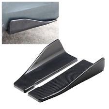 2pcs Carbon Fiber Car Rear Deflector Spoiler Splitter Diffuser Bumper Canard Lip