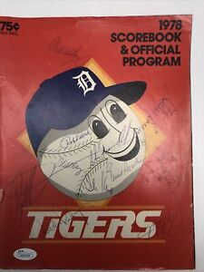 1978 Detroit Tigers Signed Program, Alan Trammell Lou Whitaker Rookie Signed
