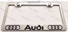AUDI Stainless Steel License Plate Frame Rust Free W/ Bolts Caps