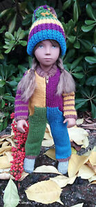 OVERALL FOR VINTAGE SASHA  DOLL ALL IN ONE WITH MATCHING HAT OUTFIT SNOWSUIT