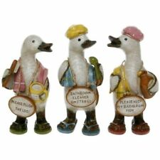 Complete Set of Davids Bathroom Message Ducks Small