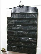 Sheffield Home Hanging Jewelry Organizer 39 Zippered Pockets Black / White - NWT