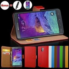 Unbranded/Generic Leather Mobile Phone Wallet Cases for Samsung Galaxy Note 4