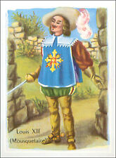 IMAGE CARD Musketeer Costume de Mousquetaire roi Louis XIII Cape Bottes Suit 60s