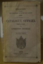 1855 EXPOSITION INDUSTRIE/toutes nations/ ARTISANAT/ noms + résidences exposants