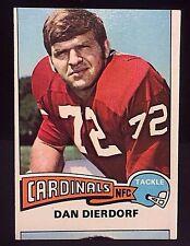 DAN DIERDORF 1975 Topps Football ERROR OddBaLL MISCUT Card #35 Rare CARDINALS