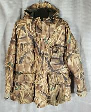 Large Cabelas Gortex Camo Hooded Mens Coat