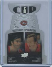2020-21 Upper Deck Cup Components Yvon Cournoyer and Frank Mahovlich Montreal