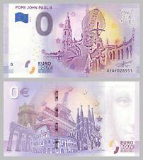 0 Euro Souvenirschein Pope John Paul II - Jan Paweł II