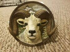 Faces of the Wild: The Dall Sheep Collector Plate 3D 3rd Issue Bradford Exchange