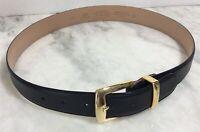 Talbots Women's Black Leather Belt Size M #6009