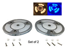 """Pactrade Marine  RV Auto  5""""   2 X White Blue  LED Ceiling  Light Touch Switch"""