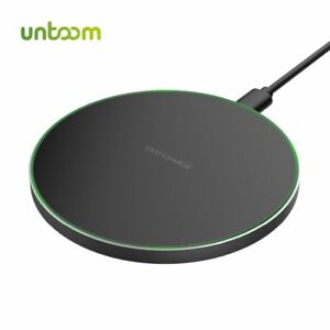Wireless Charger Station for iPhone Samsung USB Quick Qi Charger Pad