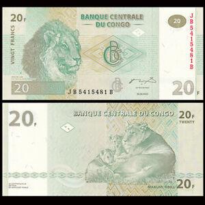Congo Democratic Republic 20 Francs, 2003,  P-94, UNC