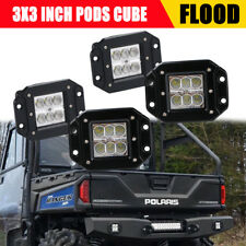 4X Flush Mount 3Inch 24W LED Work Light Polaris Jeep ATV Bumper Fog Lamp Flood