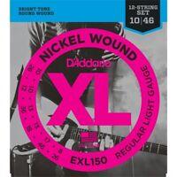 D'Addario Strings EXL150 Electric Nickel Wound 12-String Regular Light - 10-46