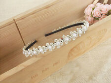 1pcs Sweet Lady Girl Flower and Pearl Hair Band Headband Bridesmaid
