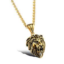 Men's  Titanium steel Element  Lion necklace