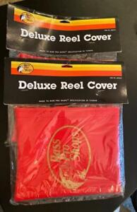 2 Vintage Sealed Retail Pack Bass Pro Shops Deluxe Reel Covers Red #222540-5
