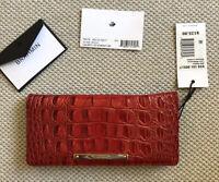 $125 Brahmin ADY Wallet LAVA Melbourne Bi-Fold Genuine Leather Pretty RED NWT!