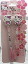 HELLO  KITTY- Pencil set deux crayons à papier avec gommes- neuf sous blister