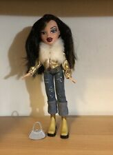 Bratz Jade Doll W/ Black Hair With Highlights, Gold Coat, Jeans & Accessories