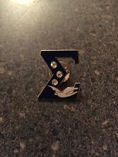 Phi Beta Sigma Lapel Pin W/three Stones And Dove   Excellent Crossing Over Gift